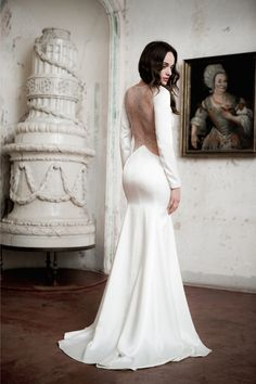 Daalarna 2014 Collection Wedding Dress with Lace Back. Just the right hint of sex appeal - love it!