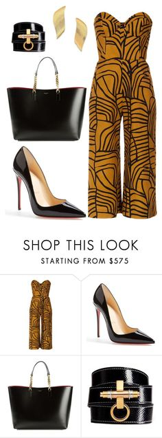 style theory by Helia by heliaamado on Polyvore featuring moda, Andrea Marques, Christian Louboutin, Yves Saint Laurent, Givenchy e Stephanie Kantis