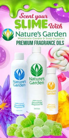 Scent your slime with Natures Garden fragrance oils.  Be sure to choose the body safe scents.