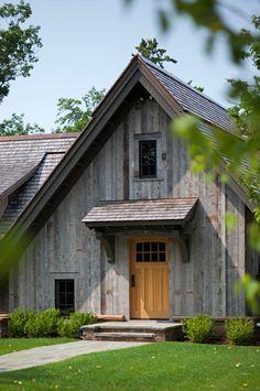 Front Door Ideas. Front Door to a Rustic Barn used as Guest House. #GuestHouse #FrontDoor