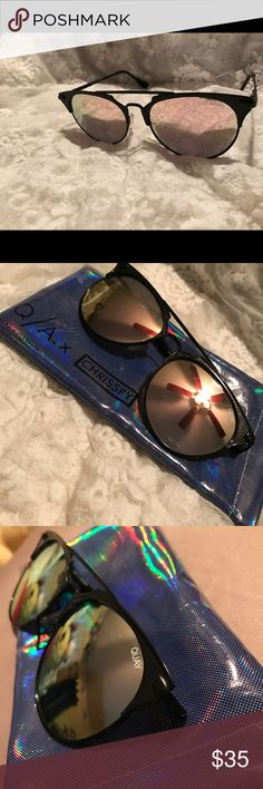 Quay Australia Chrisspy Gemini sunglasses Gorgeous sunglasses!!! Not sold anymore on the website!!! Comes with sunglasses pouch the glasses do not have a scratch on them Quay Australia Accessories Glasses