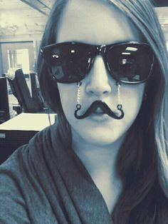 Mustache Clever Disguise  I wish I got the ones from Claire's!