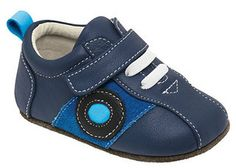 Baby Boys Soft Pram Shoes Booties Teddy Bear Star Blue Navy Trainers 0-12M