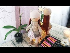 DIY Интерьерная кукла из ткани своими руками | Рыжеволоска - YouTube Fabric Doll Pattern, Fabric Dolls, Doll Patterns, Doll Videos, Diy And Crafts, Paper Crafts, Knitting Videos, Doll Tutorial, Sewing Toys