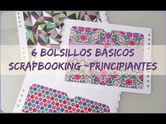6 Bolsillos básicos -(bolsillo invisible con vellum) Scrapbooking - Principiantes - YouTube Scrapbook Sketches, Scrapbook Albums, Scrapbook Cards, Origami And Quilling, Bookbinding, Scrapbooks, Mini Albums, Projects To Try, Handmade
