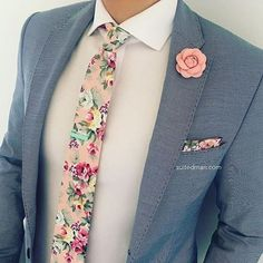 Love that @Suited_Man style including their wide selection of floral ties and lapel pins   Get them now at www.suitedman.com   Follow @suited_man #suitup @SuitedManStyle