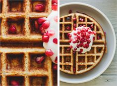 Sprouted Kitchen - multi grain waffles with flax and almond meal  (YUM)