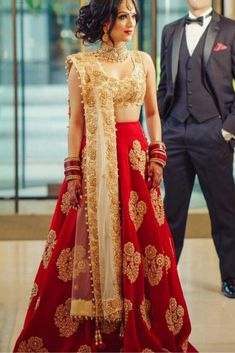 The Stylish And Elegant Lehenga Choli In Red Colour Looks Stunning And Gorgeous With Trendy And Fashionable Embroidery. The Cotton Silk Fabric Party Wear Lehenga Choli Looks Extremely Attractive And C. Red Wedding Dresses, Indian Wedding Outfits, Bridal Outfits, Indian Outfits, Bridal Dresses, Wedding Attire, Maxi Dresses, Party Wear Lehenga, Bridal Lehenga