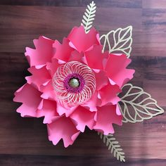 How To Make Paper Flowers, Paper Flowers Wedding, Giant Paper Flowers, Uses Of Paper, Diy Paper, Paper Crafts, Leaf Template, Flower Template, Templates