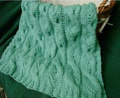 """As part of my """"recession knitting"""" plan to use up some of my stash yarn, I've posted a new free knitting pattern: Sweet Cables Baby Blanket. Cable Knitting Patterns, Free Knitting, Baby Knitting, Knitting Stitches, Spool Knitting, Free Baby Blanket Patterns, Afghan Crochet Patterns, Baby Patterns, Knit Patterns"""