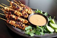Here's a scrumptious appetizer idea...  These Chicken Satays with a Spicy Peanut dipping sauce  are amazing!! http://FourSeasonGourmet.com/chicken-satay-with-spicy-peanut-dipping-sauce/