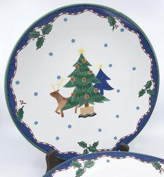 Mikasa #Dinner #Plate (s) Christmas Glow Pattern Deer Tree Japan 11in 1990s  sc 1 st  Pinterest & Christopher Radko design for Target: Holiday Celebrations ...