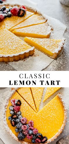 A classic lemon tart recipe featuring a cookie crust and a lemon curd that's sweetened with honey, which adds flavor and balance. Easy Tart Recipes, Baking Recipes, Fruit Tart Recipes, Easy Fruit Tart Recipe, Fruit Tarts, Kale Recipes, Rib Recipes, Roast Recipes, Avocado Recipes