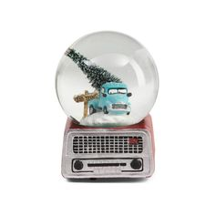 Christmas Radio Snow Globe ($15) ❤ liked on Polyvore featuring home, home decor, holiday decorations, christmas home decor, christmas snow globes, christmas snowglobe, christmas holiday decor and xmas snow globes
