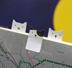 本の栞にピッタリ!可愛らしいネコのふせん【Smile Tab】
