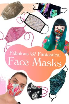 Fun, Fashionable, Fabulous Fantastical Face Masks by independent Designers Festival Wear, Festival Fashion, Fashion 2020, Fashion Brands, Favourite Festival, Mermaid Sequin, Black Mask, Designer Wear, Cool Things To Make