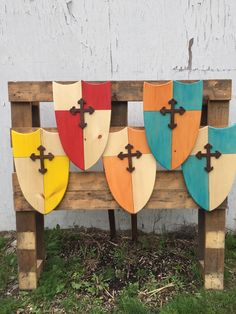 A personal favorite from my Etsy shop https://www.etsy.com/listing/196312349/wooden-kids-shield-with-fleuree-cross