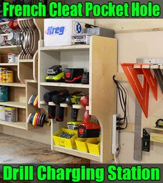 How to Make a French Cleat Pocket-Hole Drill Charging Station