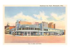 Greyhound Bus Station, Minneapolis, Minnesota Prints at AllPosters.com