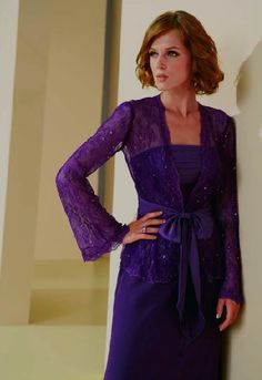 mother of the bride-NOT NECESSARILY PURPLE, unless that's what my daughter wants. I love this
