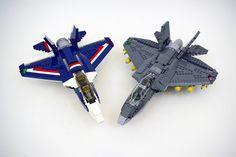 Blue Power Jet and my variation - LEGO F-35B Lightning II | by jskaare