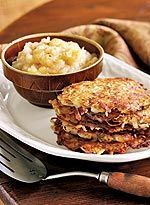 Potato Pancakes with Nutmeg Golden fried potato pancakes receive a boost from freshly grated nutmeg. Recipe: Potato Pancakes with Nutmeg Brunch Recipes, Breakfast Recipes, Brunch Ideas, Breakfast Ideas, Appetizer Recipes, Vegetarian Recipes Hearty, Delicious Recipes, Tasty, Yummy Food