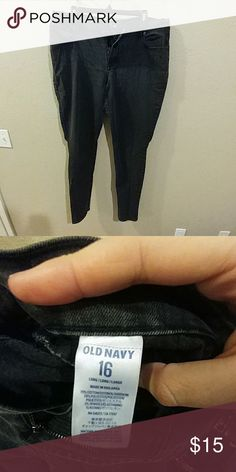 *2 for $15* Old Navy Flirt Skinny Jeans- Black Old Navy Flirt Skinny Jeans- Black. Size 16 Long. Good used condition. Non-smoking home.  **Bundle with another qualifying item for 2 for $15 pricing** Old Navy Jeans Skinny