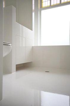 Naadloze badkamers en voegloze badkamers