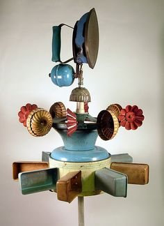 galvanized tin pieces upcycled into an amazing Whirlagig...from Hutch Studio, La Connor, WA