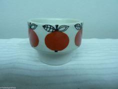Arabia Finland Vintage Egg Cups design Esteri Tomula Apple