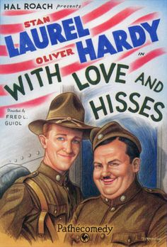 With Love and Hisses (1927) Silent comedy short film Starring Stan Laurel and Oliver Hardy prior to their official billing as the duo Laurel and Hardy. https://www.youtube.com/user/PopcornCinemaShow