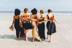 And her beautiful bridesmaids, giving us #SquadGoals.