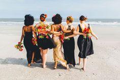 Beautiful bridesmaids giving us #SquadGoals.