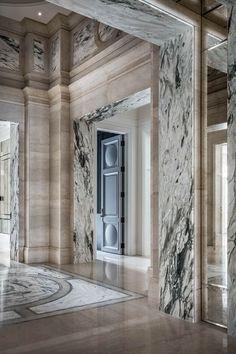 Top Interior Designers, Luxury Interior Design, Interior Design Inspiration, Interior And Exterior, Hallway Inspiration, Wall Panel Design, Floor Design, House Design, Architecture Details