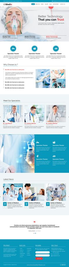 Medix is new Bootstrap HTML template for #Health and Medical organization #websites. Download Now!