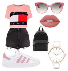 """""""Street Style 💅"""" by ferrerofrancy ❤ liked on Polyvore featuring adidas Originals, Tommy Hilfiger, Ksubi, Gucci, French Connection, Lime Crime, Abbott Lyon, love and Pink"""