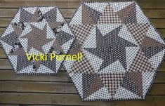 Vicki's Fabric Creations: Reflections on Hexagons -Tutorial Uploaded