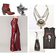 A little bit country...Fourteen Eleven Designs' wanderlust concho & coin necklace paired with Novella Royale bells and some wolf action from Spell & The Gypsy Collective