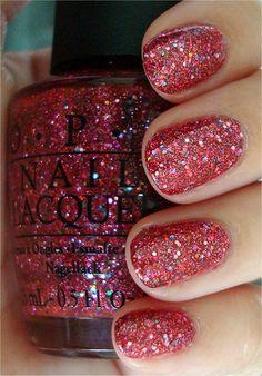 more Christmasy/glittery nail polish