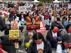 People of Myanmar-Born Chinese are protesting against military SAC in front of Liberty Square in Taipei to stop evil violence and restore the democratically elected government. #WhatsHappeningInMyanmar #savemyanmar #internationalsupport Bts Face, Military Coup, Taipei, We Need, Liberty, Shit Happens, Restore, People, Chinese