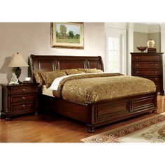 Furniture of America Barelle II Cherry Platform Bed - Overstock™ Shopping - Great Deals on Furniture of America Beds