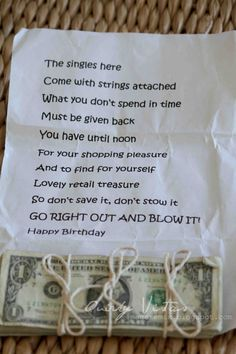 Great idea if they do like me sometimes and don't always spend bday money on themselves;} Good for mommas:)