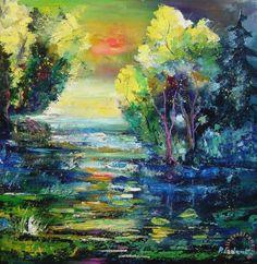 Magic pond Painting by Pol Ledent