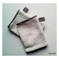 Lot de 2 gants de toilette chic