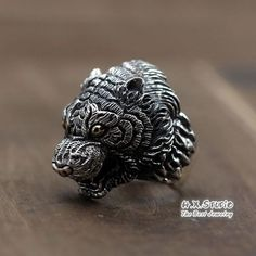 Silver Tiger Ring, Unique Handmade Silver Jewelry, Men's Jewelry, Gift for Him, Wholesale Available