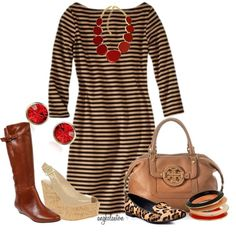 """School Days #18: New Dress for Fall...Three Ways"" by angkclaxton on Polyvore"