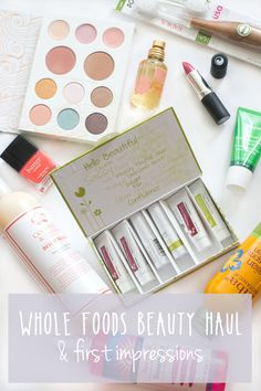 Whole Foods Beauty Haul, First Impressions, and Giveaway: Favorites in natural and organic beauty, sun, hair, and skin care, all found at your local Whole Foods Store! / hellorigby seattle beauty blog