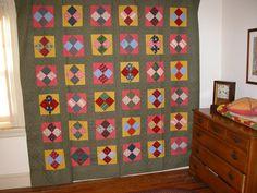 ca.1900  Four Patch Quilt