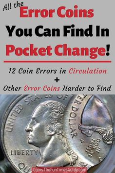 A list of all the Error Coins you can find in your loose change! #usCoins #RareCoins #ErrorCoins