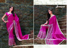 Get this beautiful gray & magenta georgette saree with Crepe blouse along with floral lace border from Laxmipati Saree. #Catalogue #GURJARI Price - Rs. 2462.00 Visit for more designs@ www.laxmipati.com #ReadyToWear #OccasionWear #Ethnicwear #FestivalSarees #Fashion #Fashionista #Couture #GURJARI0816 #LaxmipatiSaree #autumn #winter #women #her #she #mystery #lingerie #black #lifestyle #life #ColoursOfIndia #HappyBride #Who